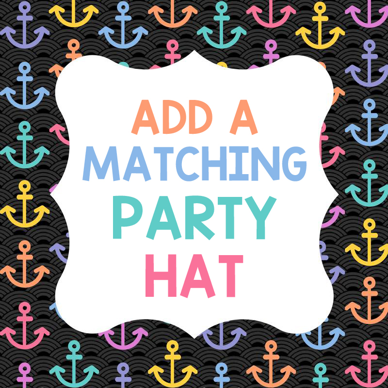 Add a matching birthday party hat