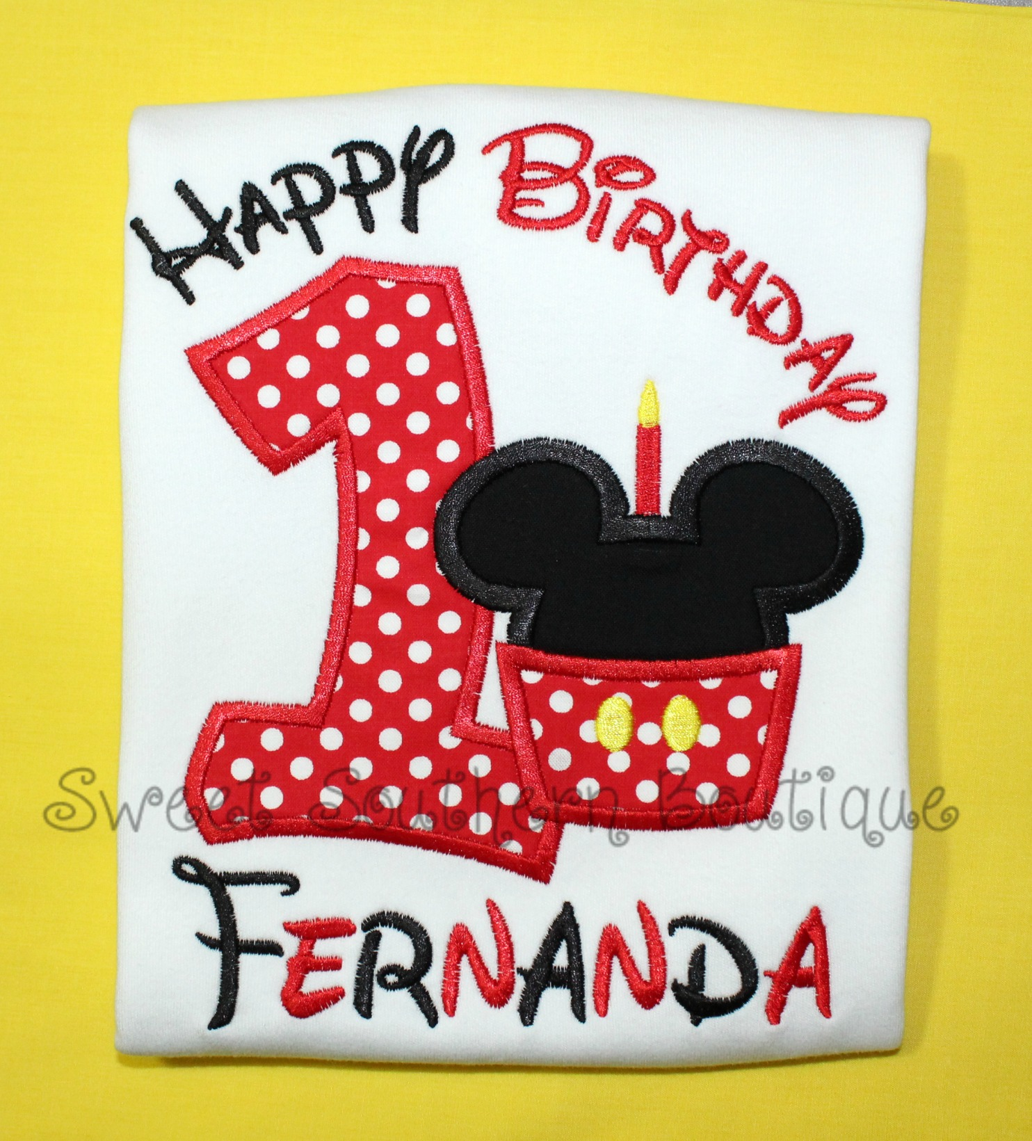 Mickey Minnie Mouse Birthday Shirt 5