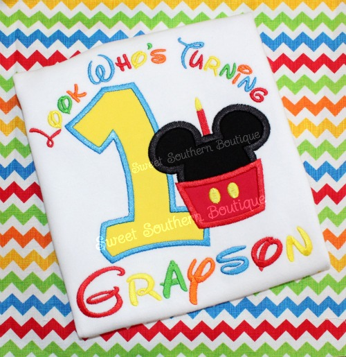 Mickey Minnie Mouse Birthday Shirt 3