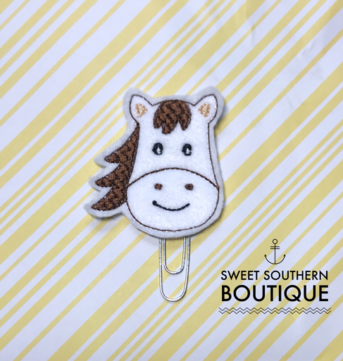 Horse planner paperclip clip