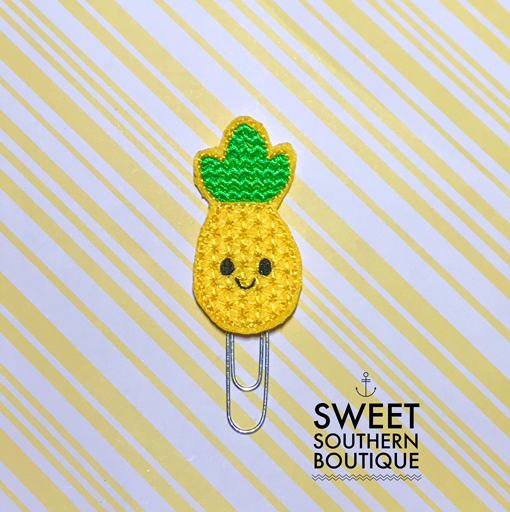 Pineapple smile planner clip paperclip