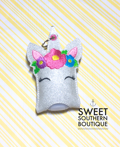 Unicorn hand sanitizer case