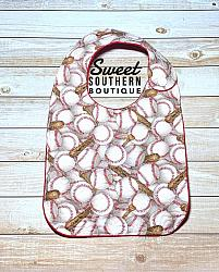 Baseball quilted bib-quilted baby bib bibs flannel cotton fleece mink minky minkie blanket soft spit drool catcher pacifier clip bandana custom made handmade personalized monogram monogrammed embroider embroidered name letter pattern boy girl blue pink white plastic snap snaps adjustable infant newborn preemie baby shower gift idea ideas birthday baseball baseballs sport sports softball fan