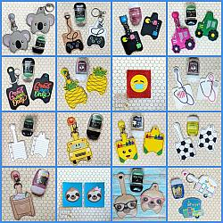 Hand Sanitizer Case 4-Hand sanitizer case snap tab Key Fob Keyfob holder vinyl fabric keychain chain mom mother gift backpack kid child girl boy name monogram embroidered embroidery personalized unicorn star wars fox owl teacher school poop bag leash narwhal favor party bath and body works dollar tree purell up and up target 1 ounce 2 ounce oz size sanitizers clip badge bag container