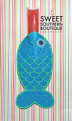 Fish popsicle holder-popsicle holder ice cream ice pop otter pop push pop ice-cream rainbow bomb alligator mermaid tail shark tail tale rectangle plain neoprene fish fishy beach summer party favor birthday gift gifts idea theme themed pencil pencils school back to school end of year gift teacher kid kids child boy girl lake camp camping