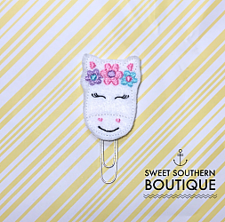 Horse flowers planner paperclip clip-paperclip paper clip felt feltie planner band book journal calendar checkbook flag note notes books bookmark book mark Erin Condren inkwell Kikki K Filofax happy planner mambi create 365 pen kate spade horse pony unicorn horsey cowboy cowgirl barn farm face peeker flower flowers crown