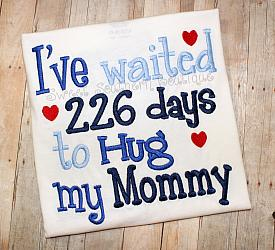I've waited days to hug my daddy shirt-Ive waited days to hug my daddy t-shirt shirt onesie kid kids child children boy girl baby military deployed deployment navy wife homecoming home army marines air force coast guard welcome dad support gift husband mom