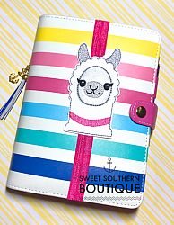 Llama book band-felt feltie planner band book journal calendar checkbook flag note notes books bookmark book mark Erin Condren inkwell Kikki K Filofax happy planner mambi create 365 pen kate spade summer fun owl bird hoot page marker holder elastic llama alpaca camel animal gift gift idea party favor theme themed vinyl leather elastic