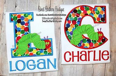 The very hungry caterpillar name letter shirt-Birthday Shirt Happy embroidered first one 1 2 3 4 5 6 7 8 9 two three the very hungry caterpillar blue green red orange name number purple applique embroidery onesie outfit hat cake smash personalized eric carle sun sunshine name number 1st 2nd 3rd party diaper cover tie embroidery appliqu appliqued dress romper idea ideas bright primary colors theme themed favor favors decorations matching sibling big little brother sister bro sis