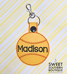 Baseball or Softball keyfob-Key Fob Keyfob wife spouse husband girlfriend fiance hot pink gold turquoise keychain chain wristlet coastie spouse mom mother gift keychain key chain ring gifts idea ideas favor family fundraiser bag tag backpack tag badge reel clip id holder clasp swivel zipper pull back pack book bag bookbag purse pocketbook thank you gift matching vinyl leather fabric badge back to school personalized name monogram custom last letters ring baseball base ball soft ball softball diamond number jersey