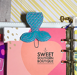 Mermaid tail paperclip planner clip 2-paperclip paper clip felt feltie planner band book journal calendar checkbook flag note notes books bookmark book mark Erin Condren inkwell Kikki K Filofax happy planner mambi create 365 pen kate spade summer fun mermaid tail tale