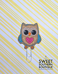 Owl planner clip paperclip-paperclip paper clip felt feltie planner band book journal calendar checkbook flag note notes books bookmark book mark Erin Condren inkwell Kikki K Filofax happy planner mambi create 365 pen kate spade summer fun owl bird hoot