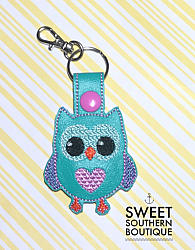 Owl keyfob-Key Fob Keyfob wife spouse husband girlfriend fiance hot pink gold turquoise keychain chain wristlet coastie spouse mom mother gift keychain key chain ring gifts idea ideas favor family fundraiser bag tag backpack tag badge reel clip id holder clasp swivel zipper pull back pack book bag bookbag purse pocketbook thank you gift matching vinyl leather fabric badge back to school personalized name monogram custom last letters ring owl bird hoot