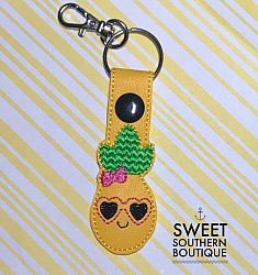 Pineapple sunglasses keyfob-Key Fob Keyfob wife spouse husband girlfriend fiance hot pink gold turquoise keychain chain wristlet coastie spouse mom mother gift keychain key chain ring gifts idea ideas favor family fundraiser bag tag backpack tag badge reel clip id holder clasp swivel zipper pull back pack book bag bookbag purse pocketbook thank you gift matching vinyl leather fabric badge back to school personalized name monogram custom last letters ring pineapple summer fruit beach fun smile smiley face bow hairbow hair sunglasses glasses heart