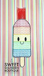 Rainbow popsicle holder-popsicle holder ice cream ice pop otter pop push pop ice-cream rainbow bomb alligator mermaid tail shark tail tale rectangle plain neoprene fish fishy beach summer party favor birthday gift gifts idea theme themed pencil pencils school back to school end of year gift teacher kid kids child boy girl lake camp camping