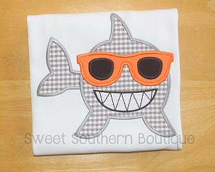 Shark shirt-Shark shirt kid kids child boy girl baby week nautical beach ocean birthday theme sea world aquarium fish whale water themed party pink outfit embroidered personalized name number teeth summer sunglasses gift matching sibling party hat cake smash 1st