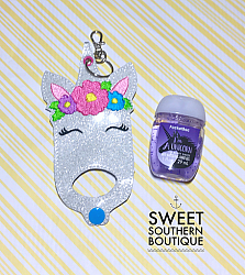 Unicorn hand sanitizer case-Hand sanitizer case snap tab Key Fob Keyfob holder vinyl fabric keychain chain mom mother gift backpack kid child girl boy name monogram embroidered embroidery personalized unicorn star wars fox owl teacher school poop bag leash narwhal favor party bath and body works dollar tree purell up and up target 1 ounce 2 ounce oz size sanitizers clip badge bag container bow hairbow