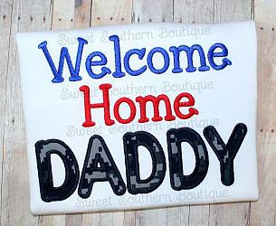 Welcome home daddy shirt-Welcome Home daddy mommy uncle t-shirt shirt onesie kid kids child children boy girl baby military deployed deployment navy wife homecoming home army marines air force coast guard dad support gift husband mom nwu acu abu red white blue